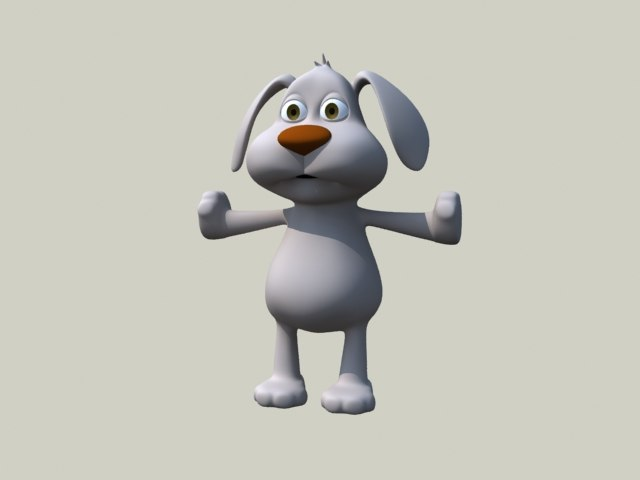 dog cartoon 3d max
