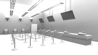 multiplex bar halls 3d model