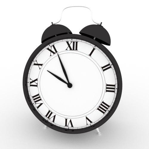 alarm clock 3d 3ds