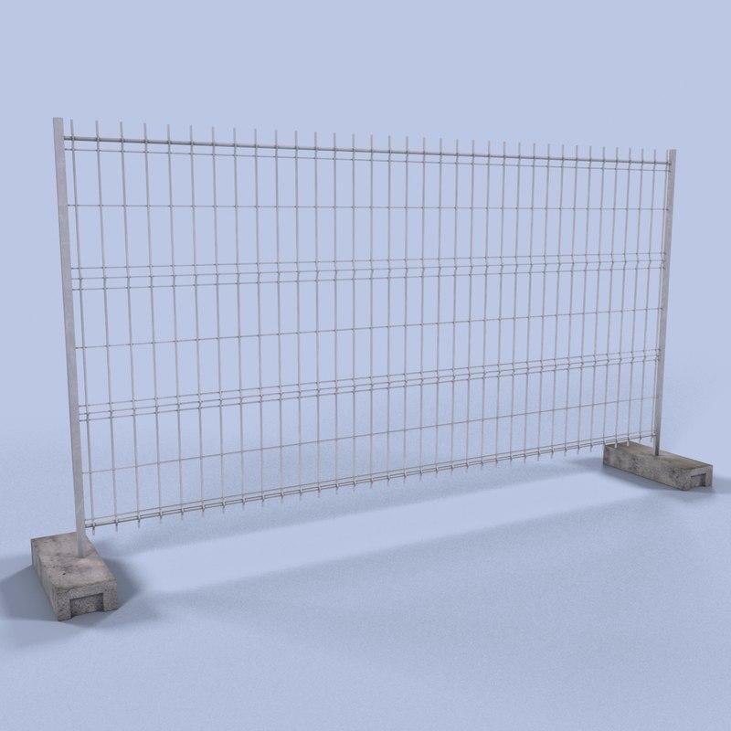 construction fence 3d max