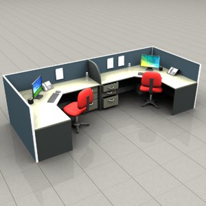 cubicles office 3d obj