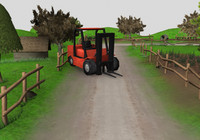 Low poly farm for 3d game