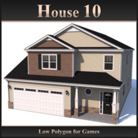Low Polygon House 10