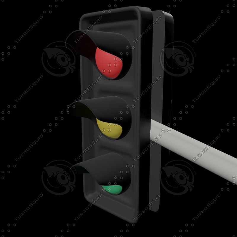 3d model traffic lights
