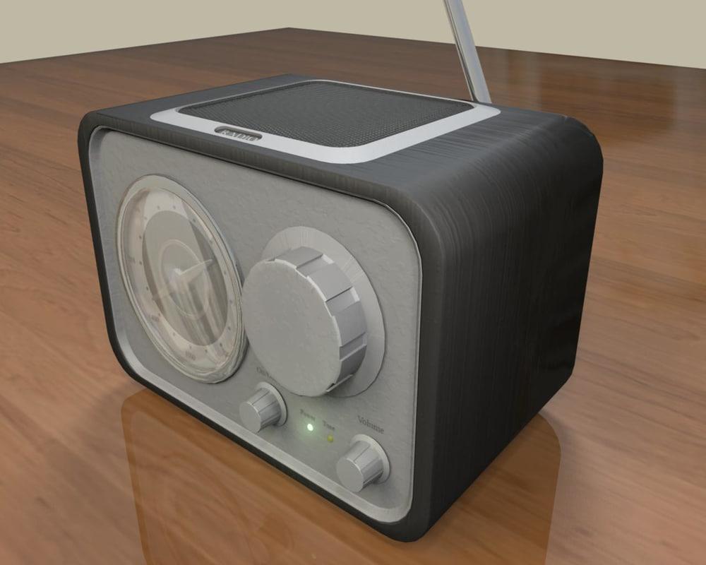 3d radio crosley solo