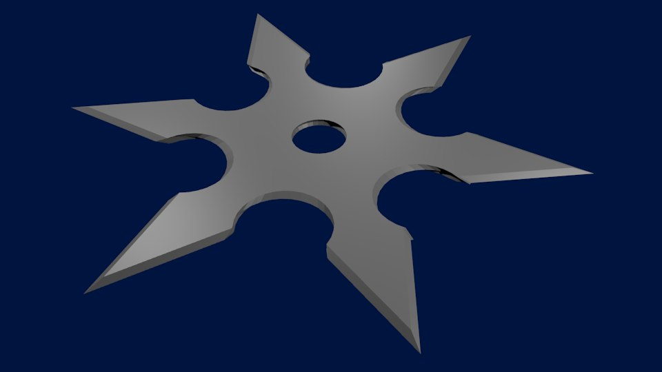 free ninja throwing star 3d model