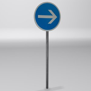 required direction sign 3d max