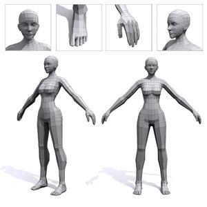 3d female base mesh human