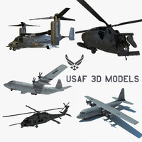 3d air force blackhawk helicopter model