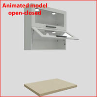 3d kitchen furnitures 80 cm