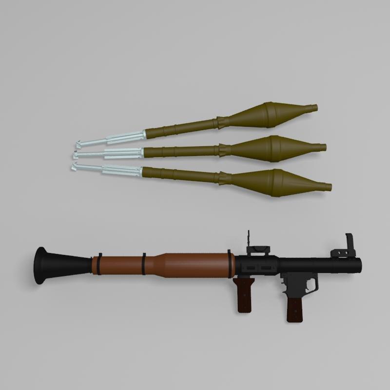 3d rpg rocket luncher model