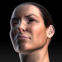 maya female head