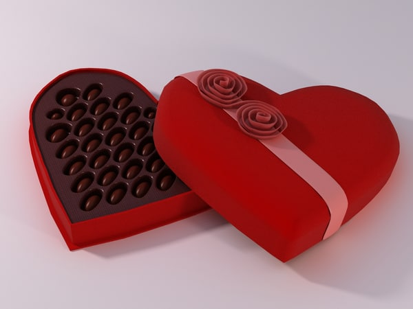 3d model valentine s chocolate box