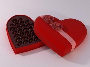 3d model valentine s chocolate box