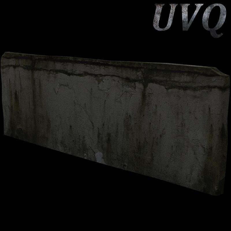 free damaged wall 3d model