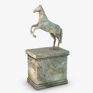 equestrian statue 3d 3ds