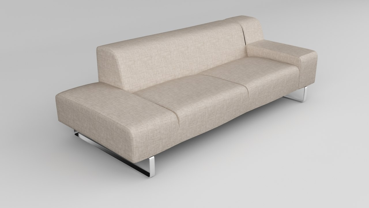 3d model modern european sofa