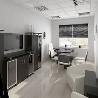 3ds max interior office