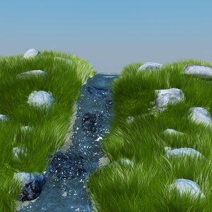 3d water animation