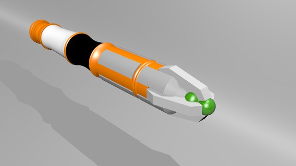 doctor sonic screwdriver 3d model
