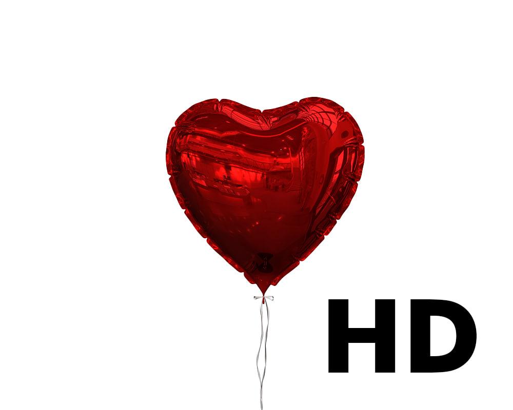 3d model heart shaped balloon