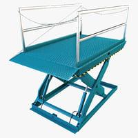 3d model dock lift