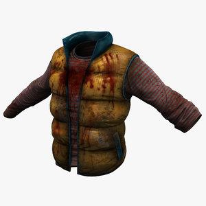 3dsmax blood clothes