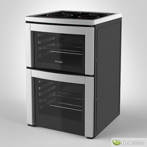 electrolux cooker touch controls 3d model