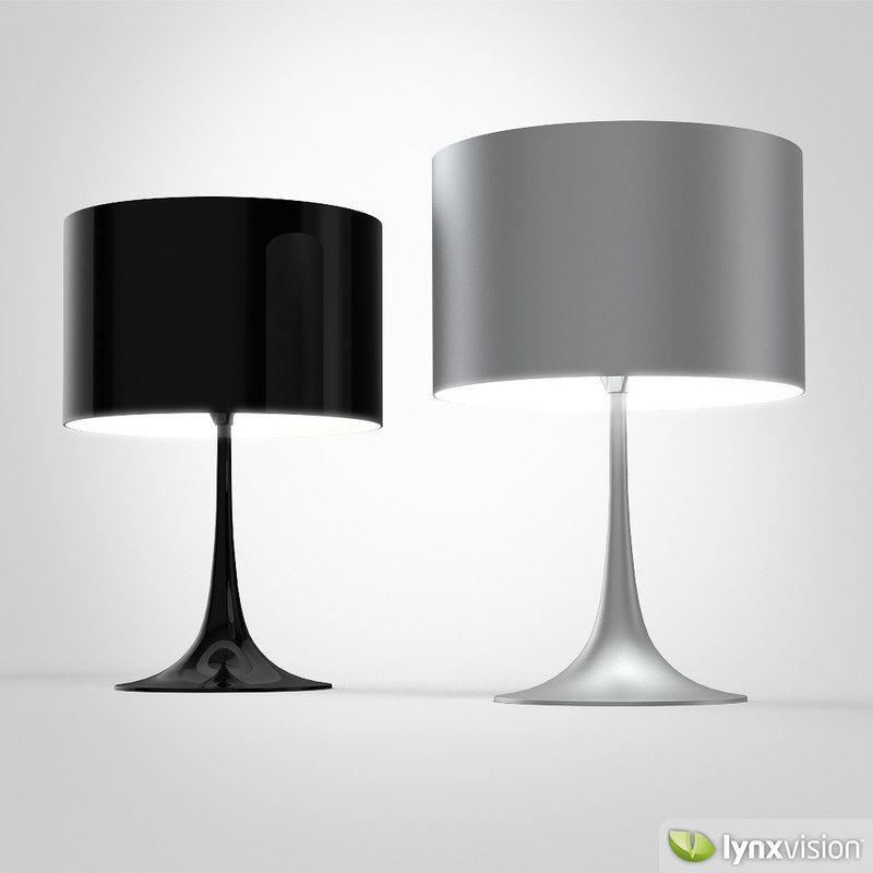 3d spun light t table lamp