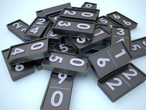 dominos 3d model