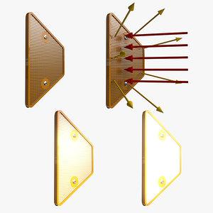 3d model of road delineator light effects
