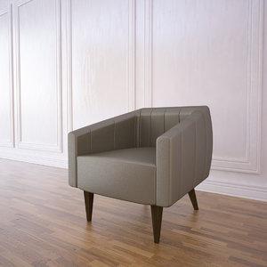 houston armchair 3d model