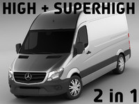 mercedes sprinter super 3d c4d