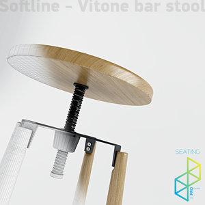 3d max bar stool vitone