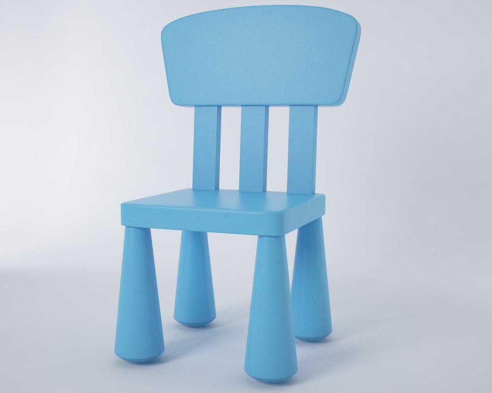 3d model mammut chair ikea