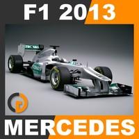 F1 2013 Mercedes W04 - Mercedes AMG Petronas F1 Team