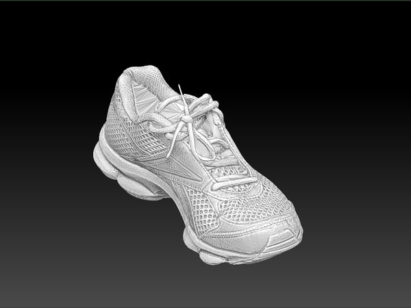 scan reebok sports shoe 3d model