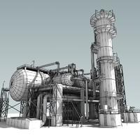 3ds max refinery unit