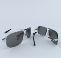 glasses sun sunglasses 3d model