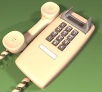 3d model wall phone
