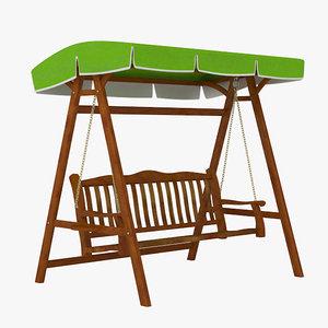 3ds max garden swing