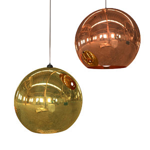 3d model tom dixon copper