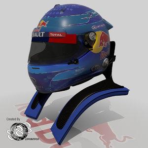 2013 helmets sebastian vettel 3d max