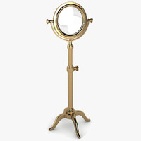 3d adjustable magnifying glass model