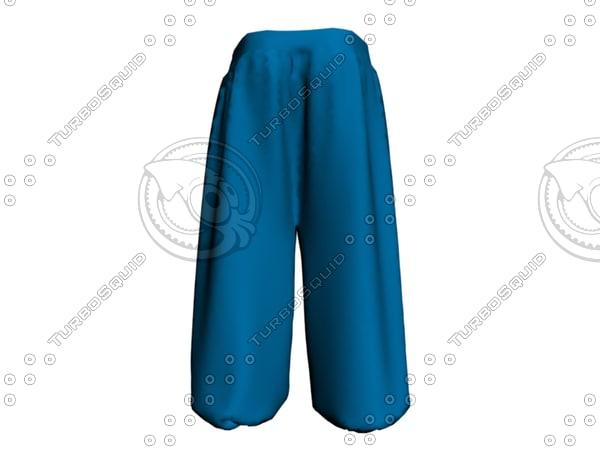 sport pants 3d obj