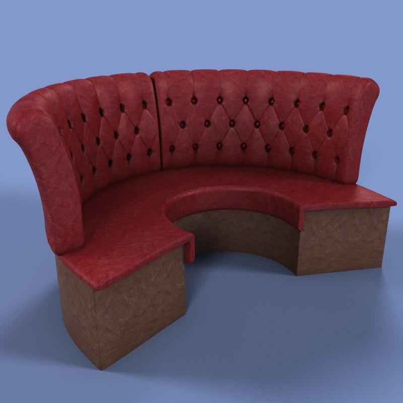 bar sofa 3d max