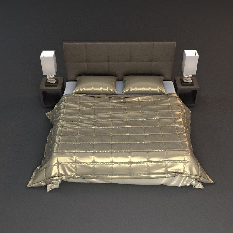 3ds max nightstand lamp beds