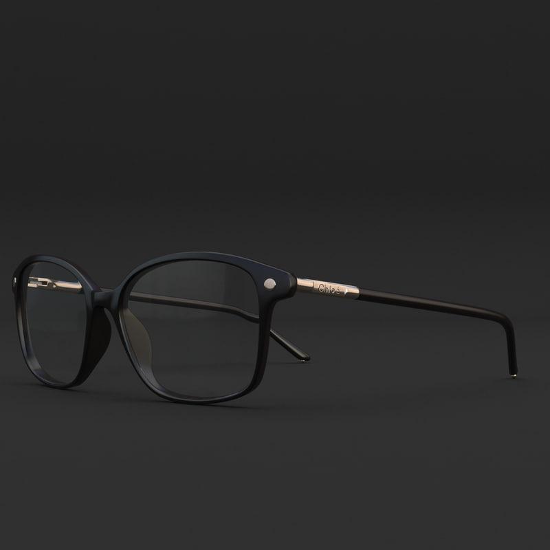 3d model glasses chloe