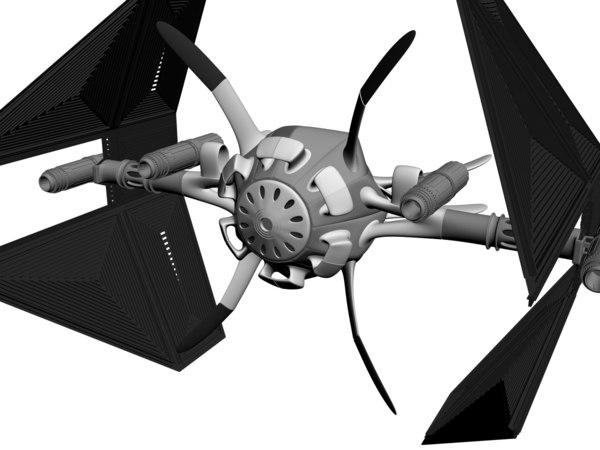 free max model space ship spaceship