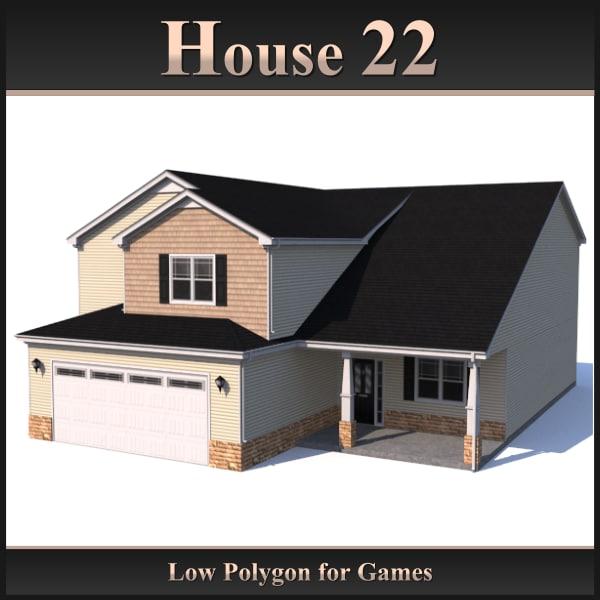 house 22 3d obj